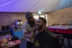 Noel from Cut Throat Barbers in Green Room